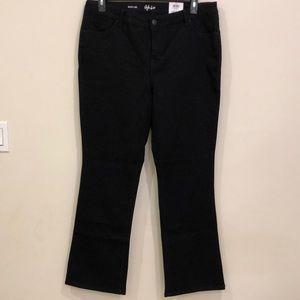 Style & Co women black boot leg jeans size 16W NWT